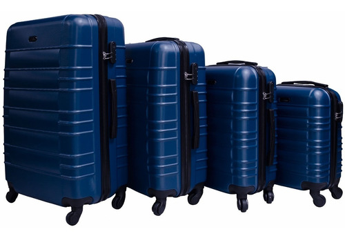 juego set 4 maletas rigidas resistente viaje 4 ruedas