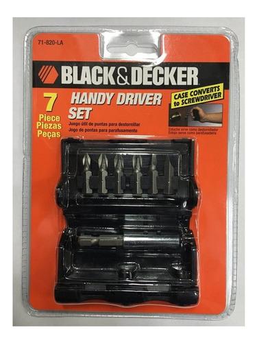 juego set 7 puntas para atornillar black decker 71-820-la mm