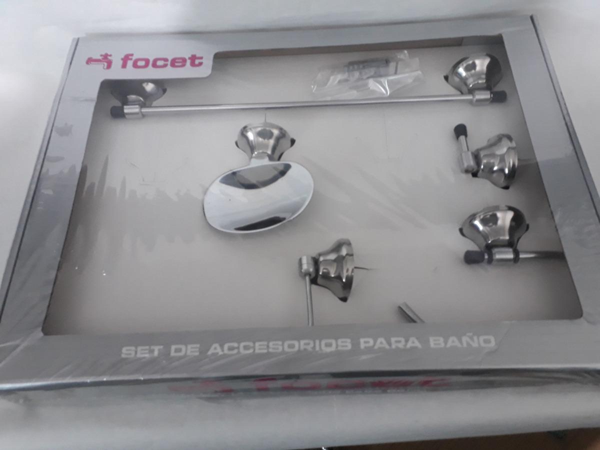 Juego Set Accesorios Baño 5 Piezas Metalico Oferta!!!!!!!!!! -   919 ... 8f7146fe544b