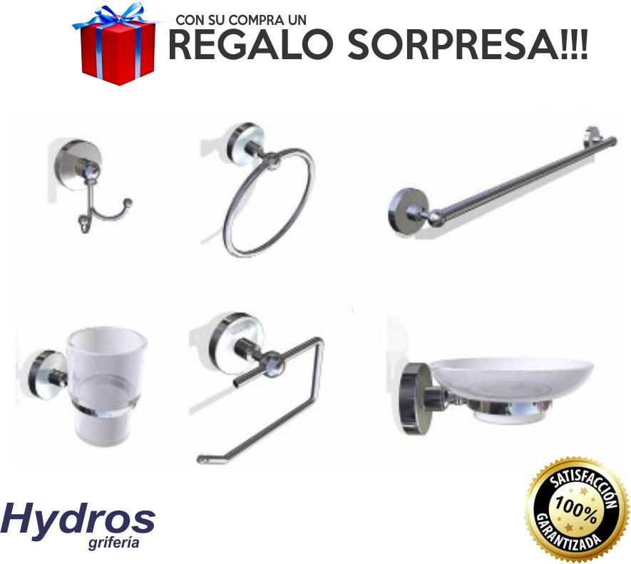 juego set accesorios baño 6 piezas hydros viva metal cromotc. Cargando zoom. 4ec536682061