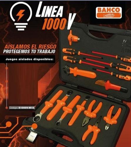 juego set herramientas aisladas bahco 15 piezas s1000v-m15