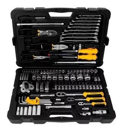 juego set herramientas stanley 125 pzas tubos llave maletin