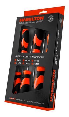 juego set kit destornilladores 6 piezas unidades hamilton