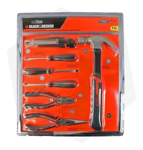 juego set kit herramientas black decker 7 pzaz hdt51-909