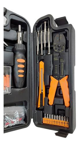 juego set kit herramientas lusqtoff 129 piezas valija viaje