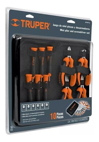 juego set mini pinzas/destornilladores electronica 10 piezas