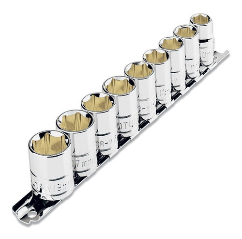 juego set tubos 9 unidades 3/8'' 10 a 19 mm truper pintumm