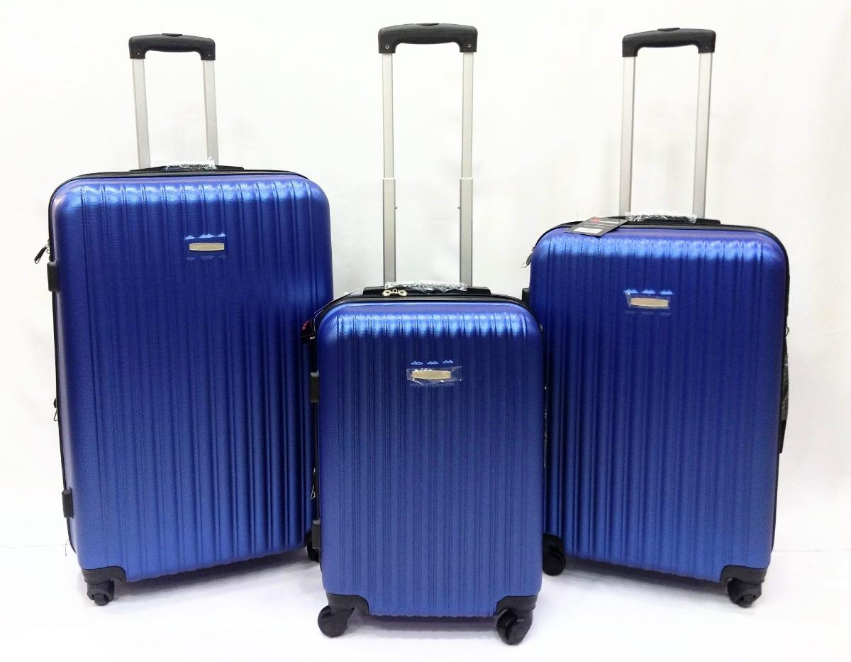 146596563 Juego - Set X3 Maletas Viaje Hard Case Para Bodega Y Cabina ...