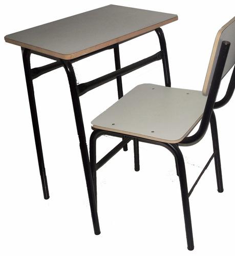Juego silla y mesa pupitre escolar colegio con o sin for Todo mesas y sillas
