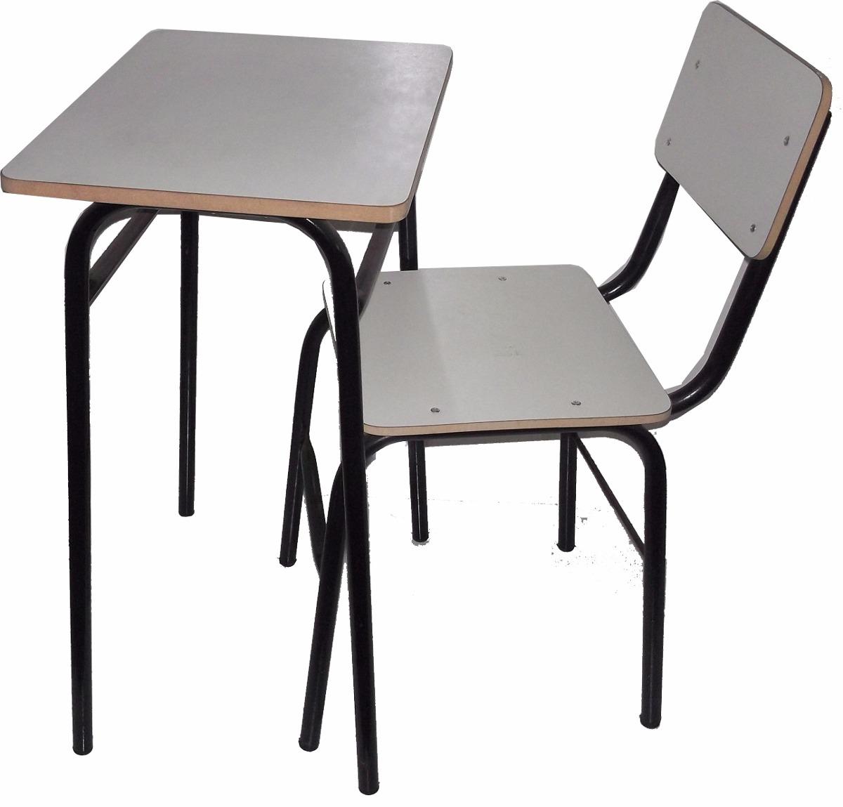 Juego silla y mesa pupitre escolar colegio con o sin for Mesa y sillas escandinavas