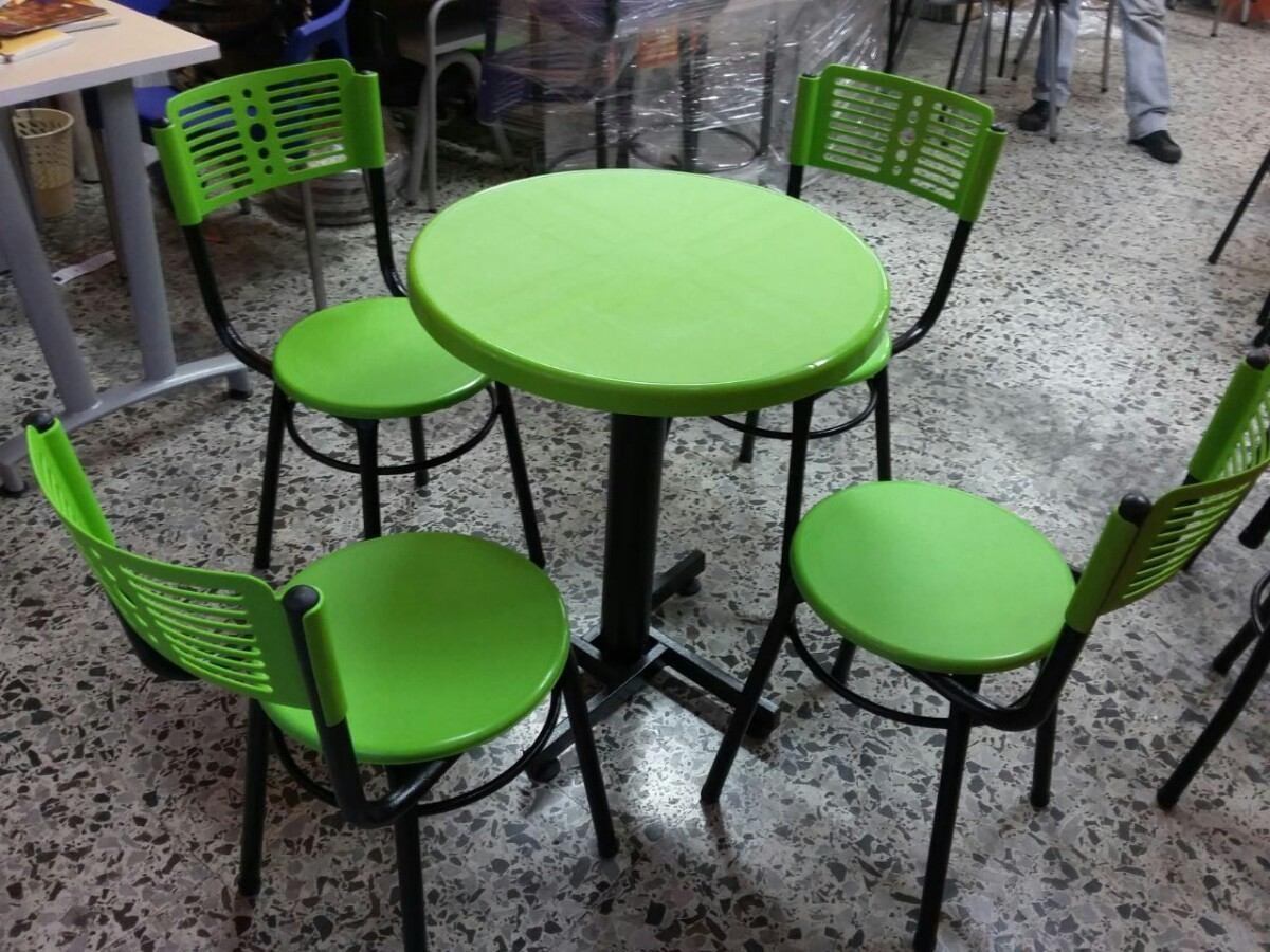 Juego sillas y mesa para cafe bar restaurante tipo karla for Mercado libre mesas y sillas
