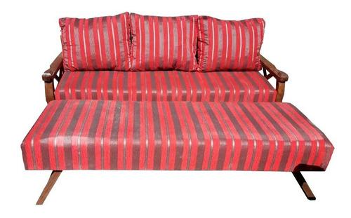 juego sillon con  cama marinera madera 2 plazas +1+1 mi casa