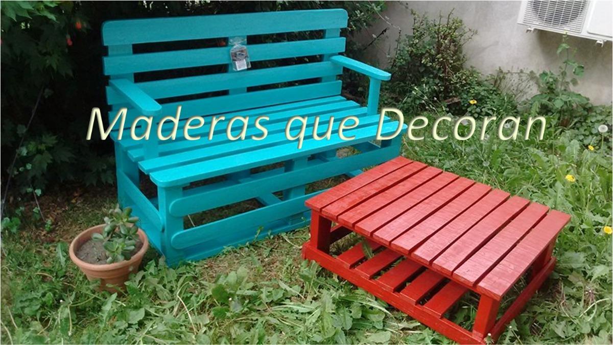 Juego Sillon Y Mesa Pallets Con Palet Reciclados Pallets 5 150