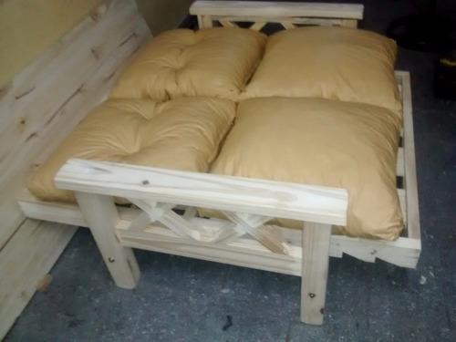 juego sillones de living pino reclinables 100%