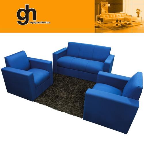 Juego sillones sofa 3 1 1 para living moderno basico for Muebles modernos montevideo