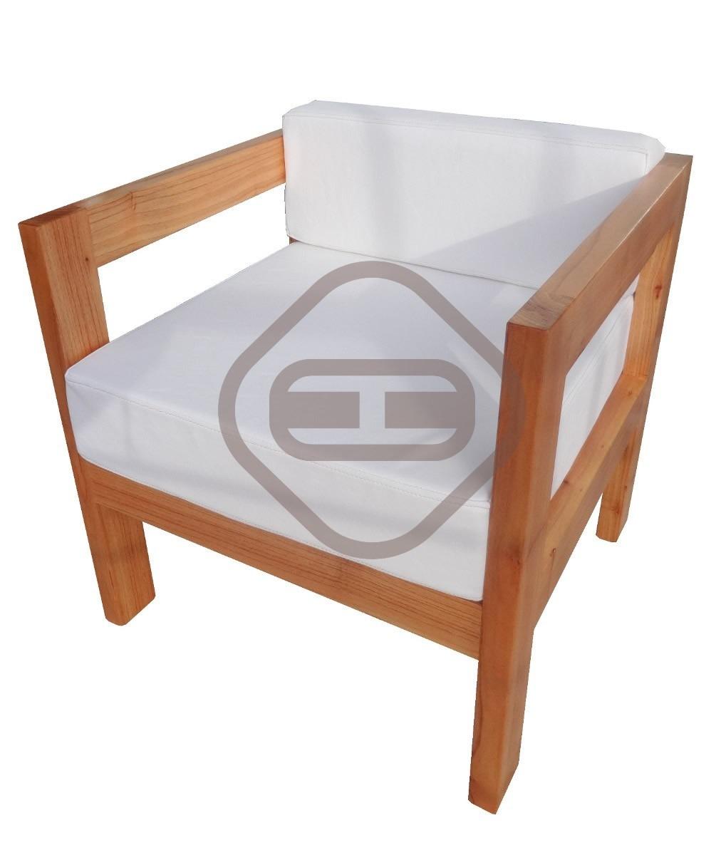 Juego sillones mesa jard n balcon terraza madera for Mesa exterior terraza