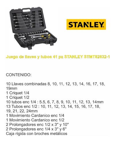 juego stanley de llaves combinadas tubos 41 pz stmt82832-1