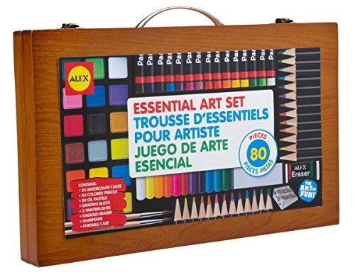 juego suministros arte esencial portátil artista alex juguet