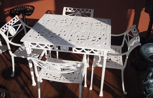 juego sutra 4 sillas en aluminio