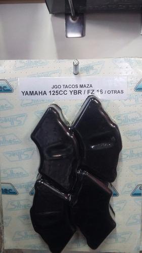 juego tacos goma  maza manchones yamaha fz 16 juego x 4