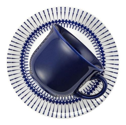 juego taza de té con plato cerámica biona buzios colb apta microondas café té infusiones bebidas calientes - 200 ml x1