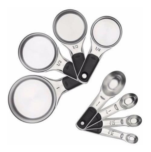 juego tazas cucharas medidoras acero oxo
