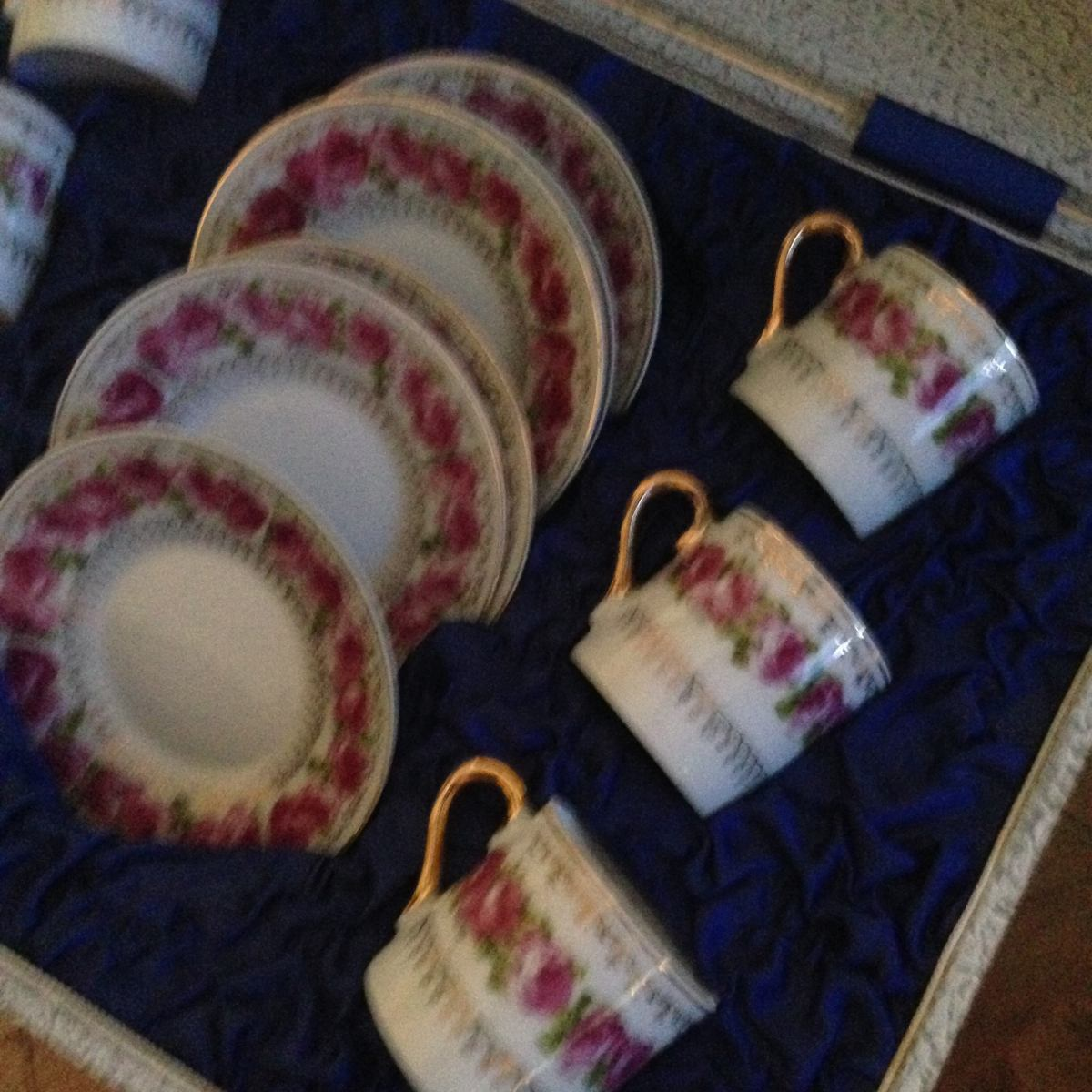 Juego tazas de t porcelana en mercado libre for Juego de tazas de te