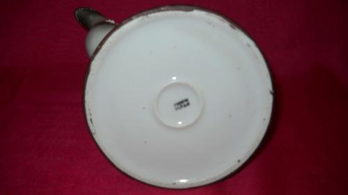 juego tetera lechera porcelana cascara de huevo japan (152a)
