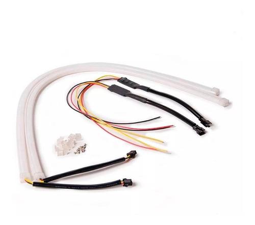 juego tira barra led drl xenon flexible 60cm blanca auto led