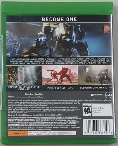 juego titanfall xbox one