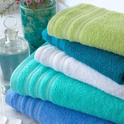 juego toalla toallon algodón 450grs amplia colores arco iris