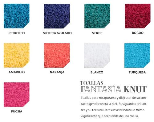 juego toalla y toallón fantasia puro algodón hotel colores