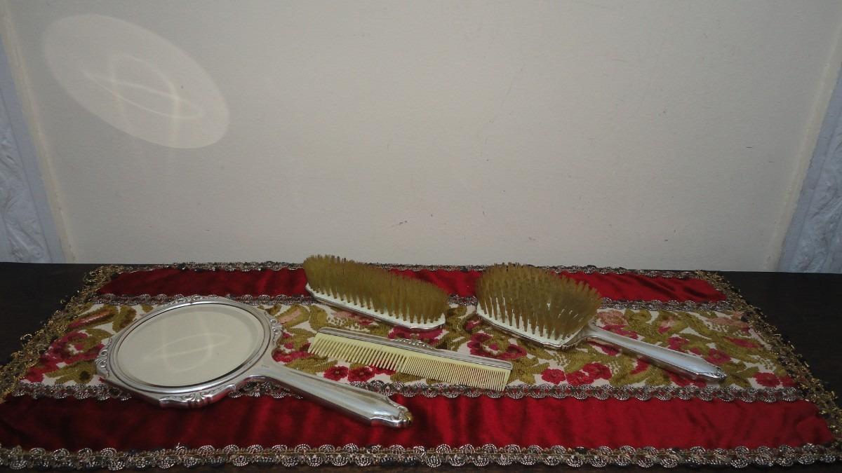 Juego toilete aleman antiguo espejo cepillos epns miralo for Espejo y cepillo antiguo