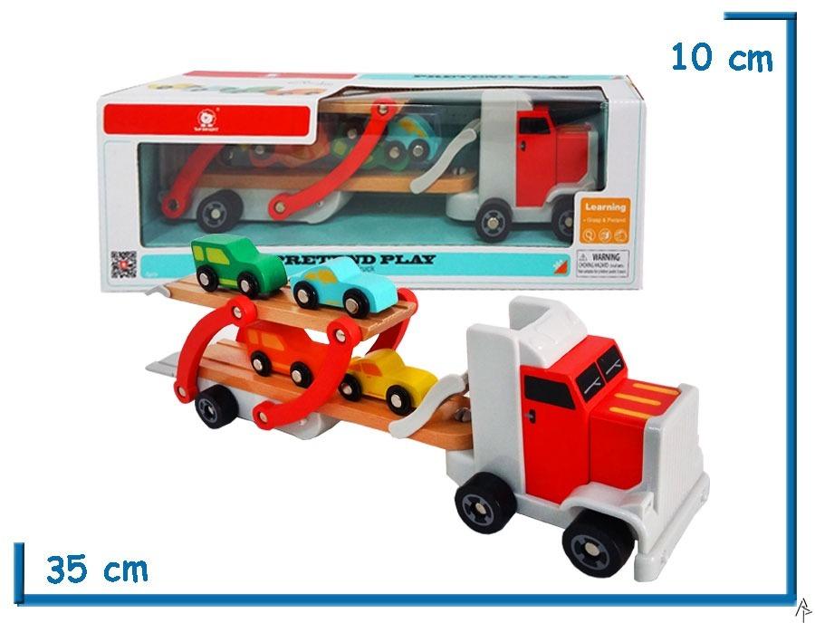 Juego Top Bright Camion Transporte De Autos Regalo Navidad 1 849