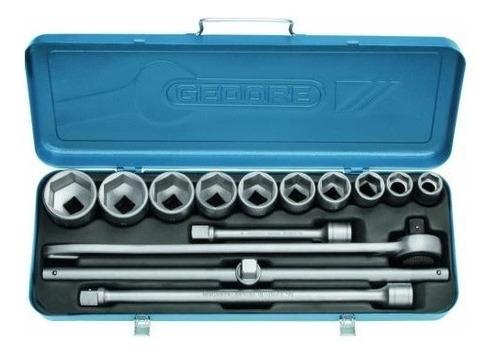 juego tubos bocallaves 14 piezas gedore metrico encastre 3/4