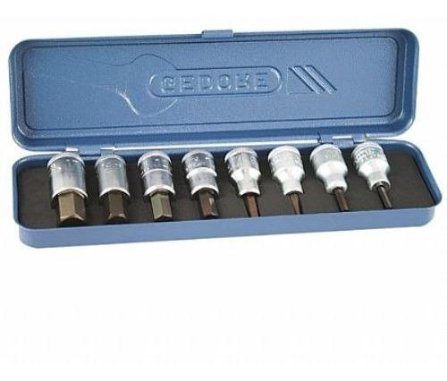 juego tubos bocallaves allen 8 piezas gedore milimetrico