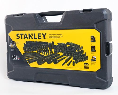 juego tubos stanley 183 pz black milimet pulgadas stmt74086