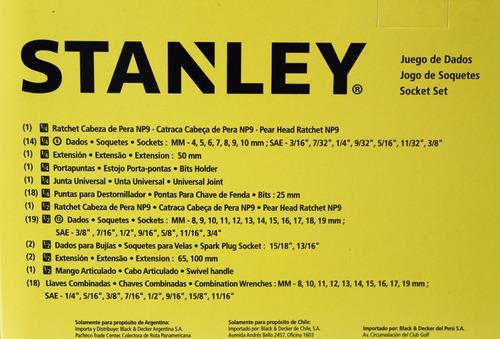 juego tubos stanley 79  pzas stmt82780