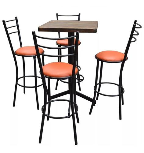 juego tubular periquero mesa y sillas para restaurante bar