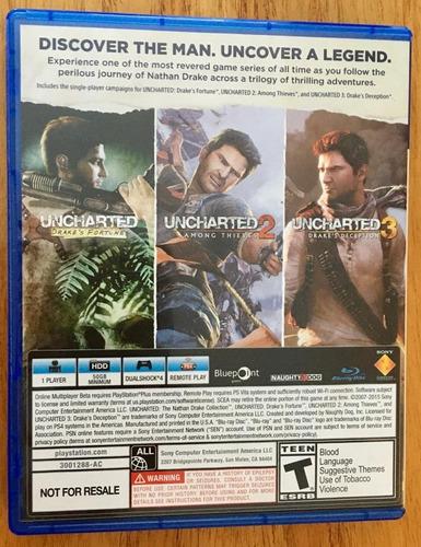 juego uncharted the nathan drake collection para ps4 físico