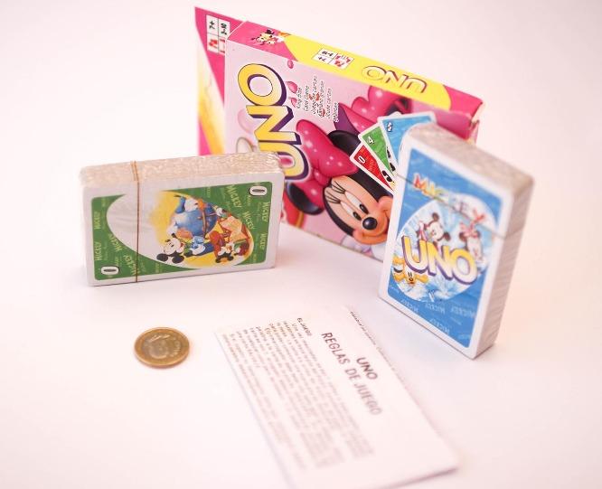 Juego Uno Minnie Mickey Didactico Familiar Cartas 11 000 En