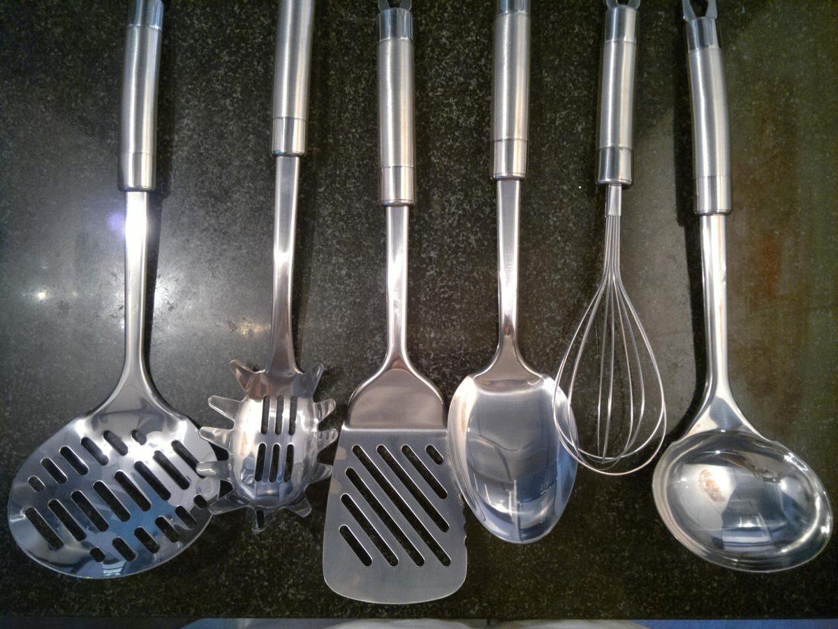 Juego utensilios cocina cs ware kochsysteme acero for Utensilios cocina acero inoxidable