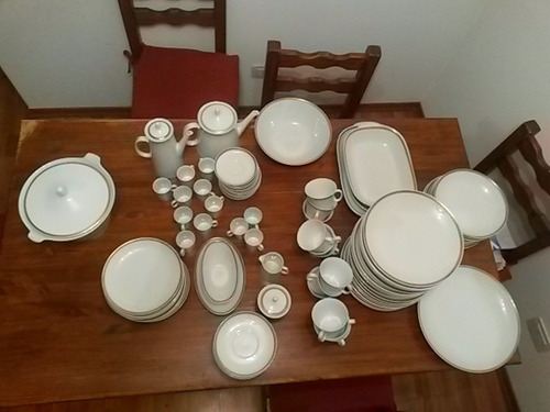 juego vajilla porcelana marly 106 piezas impecable completo