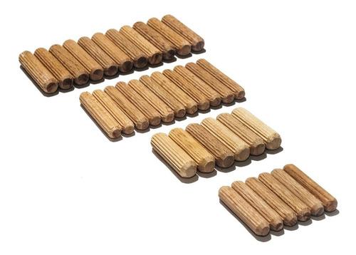 juego variado pernos tarugos tacos de madera carpintero