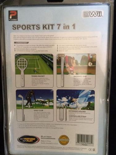 juego wii sports kit 7 en 1 tenis golf beisbol correa forro