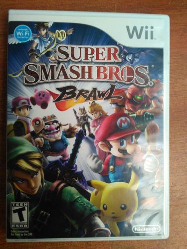 juego wii super smash bros brawl original