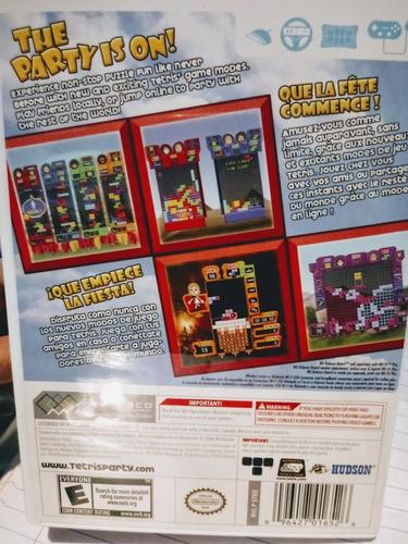 juego wii tetris party deluxe