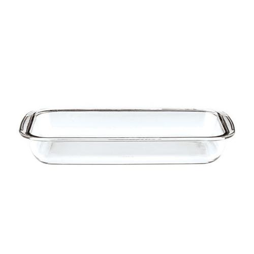 juego x 3 asaderas rectangulares vidrio para horno