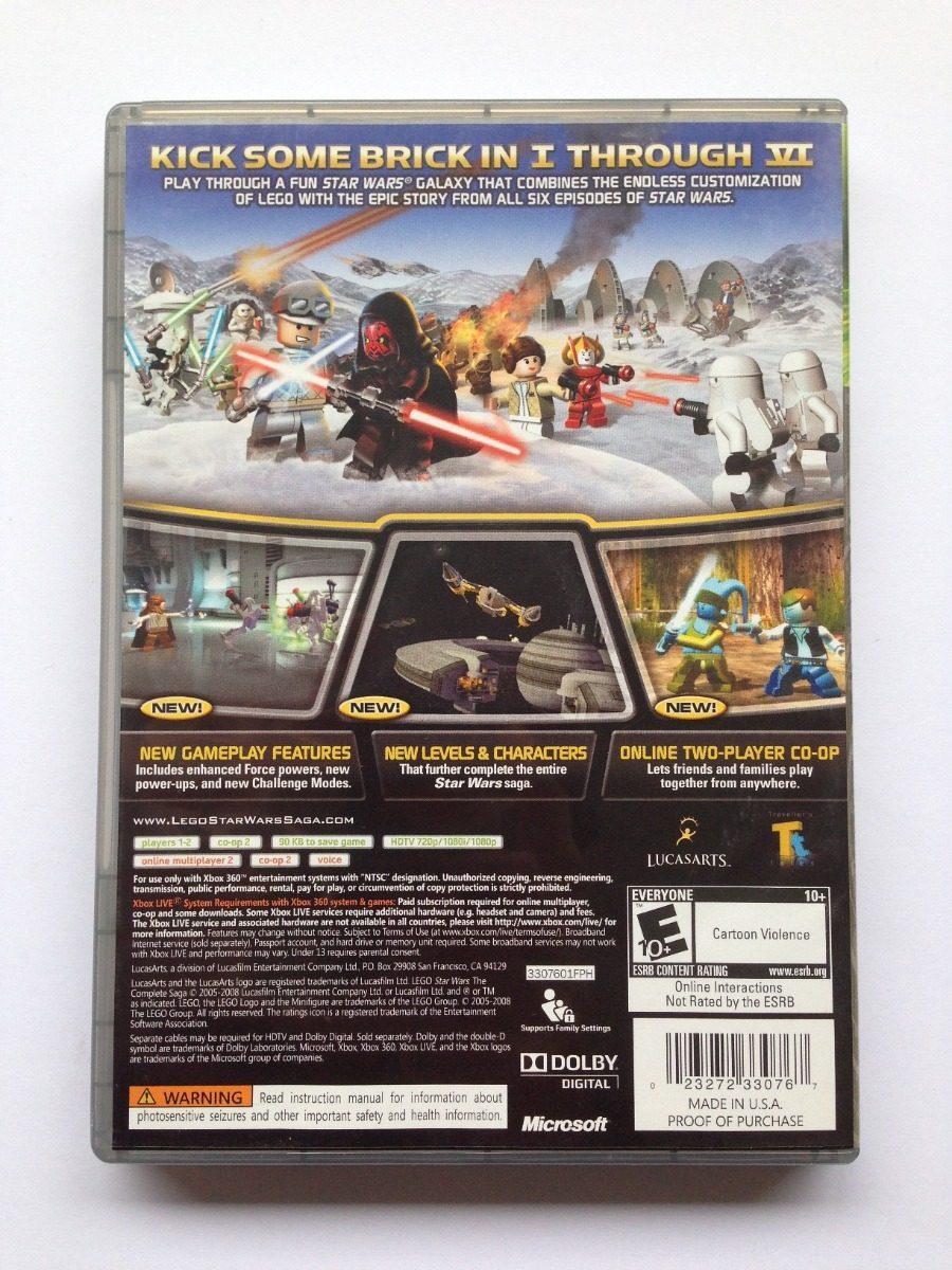Juego Lego Star Wars Complete Saga Xbox 360 Platinum Hits ...
