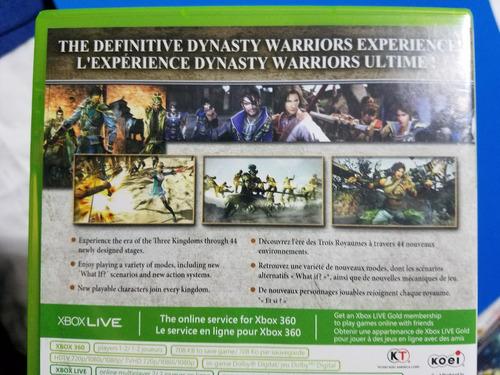juego xbox 360 dynasty warriors orginal en perfecto estado